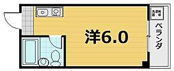 京都府京都市南区西九条森本町の賃貸マンションの間取り