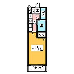 エクセランス御供所2[3階]の間取り