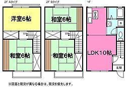 [テラスハウス] 神奈川県足柄上郡大井町金子 の賃貸【/】の間取り