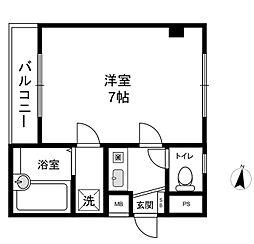 パレスナカシマ[4階]の間取り