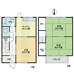 こまつ荘[1階]の間取り