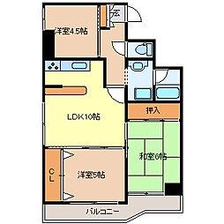 シャングリラ花京院[9階]の間取り