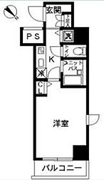 東京都目黒区中目黒4丁目の賃貸マンションの間取り