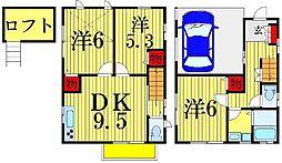 [一戸建] 東京都葛飾区青戸4丁目 の賃貸【/】の間取り