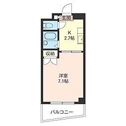 ソレイユ三和[4階]の間取り