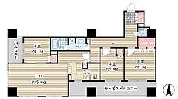ブランズタワー大阪備後町[22階]の間取り