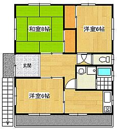岩崎アパート初音台[2階]の間取り