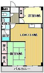 フォンテーヌ和泉[4階]の間取り