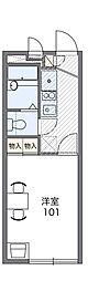 Osaka Metro谷町線 長原駅 徒歩11分の賃貸アパート 2階1Kの間取り