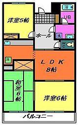 第二大越ビル[703号室]の間取り