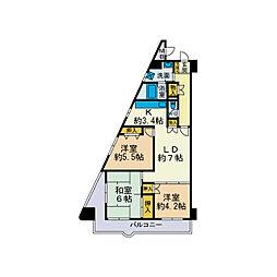 メゾン・デ・ヴィレ[6階]の間取り