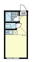 ユナイト三ツ沢マナローラ[2階]の間取り