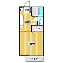 カサイ第3ビル[2階]の間取り