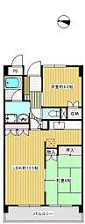 東京都世田谷区船橋4丁目の賃貸マンションの間取り