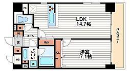 リーガル南船場[6階]の間取り