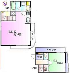 八雲の家 2階1LDKの間取り