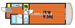 岡山県岡山市北区津島西坂2の賃貸マンションの間取り