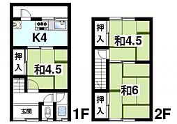 奈良県天理市平等坊町の賃貸アパートの間取り