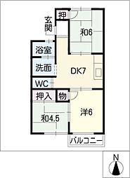 パークサイド狩宿[2階]の間取り