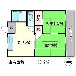 コーポ雅[1階]の間取り