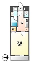 アマーレ東海通[8階]の間取り