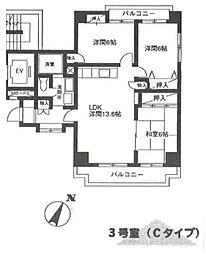 クレスト湘南[8階]の間取り