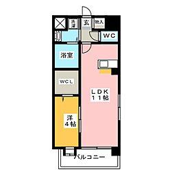 カーサ・カッシーニ[7階]の間取り