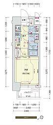 阪神なんば線 九条駅 徒歩5分の賃貸マンション 6階1Kの間取り