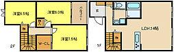 [テラスハウス] 兵庫県姫路市飾磨区今在家6丁目 の賃貸【/】の間取り