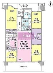 Brillia City 横浜磯子F棟[6階]の間取り