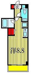 JR総武線 船橋駅 徒歩12分の賃貸マンション 1階1Kの間取り