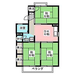 サンライズ芳泉 B棟[2階]の間取り