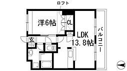 クレア[2階]の間取り