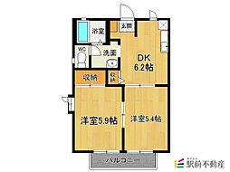 メゾンパークサイド8[1階]の間取り