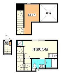 東京都立川市錦町4丁目の賃貸アパートの間取り