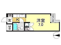 メゾンドオール[3O2号室号室]の間取り