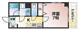 兵庫県神戸市灘区水道筋5丁目の賃貸アパートの間取り