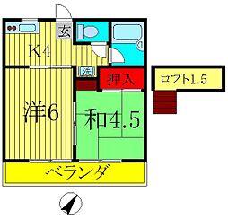 ジュネパレス松戸第113[2階]の間取り