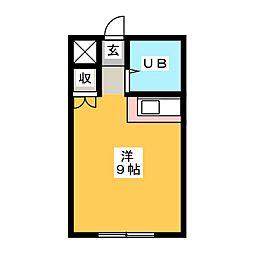 グランドゥール稲川II[5階]の間取り