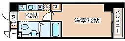兵庫県神戸市中央区旭通3丁目の賃貸マンションの間取り