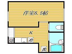 東京都板橋区若木1丁目の賃貸アパートの間取り
