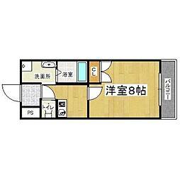 フェニックス東大阪II[4階]の間取り