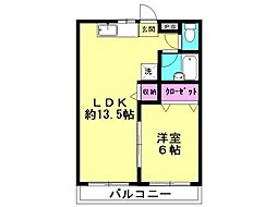 コミューン松島 B[205号室号室]の間取り