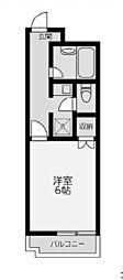 カーザ・モンターニャ[6階]の間取り