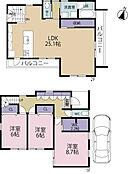 建物参考プラン例:建物面積113.72? 建物価格:2、400万円(税込)