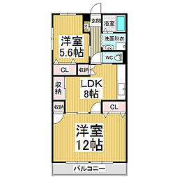 長丘タウンハウス[4階]の間取り