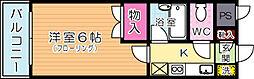 田中第10ハイツ[403号室]の間取り