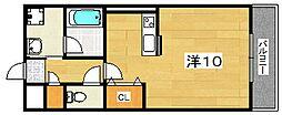 大阪府枚方市長尾家具町2丁目の賃貸マンションの間取り