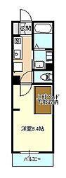 エヌズハウス東橋本II[204号室]の間取り