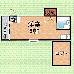 埼玉県富士見市関沢1丁目の賃貸アパートの間取り